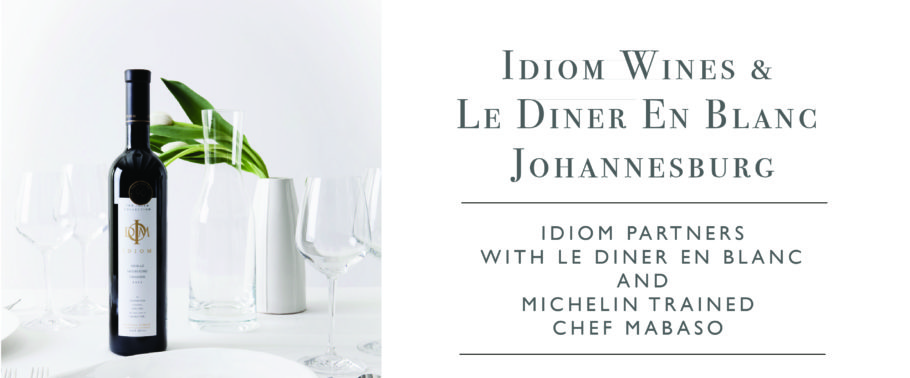 "29 September 2018: Idiom Wines selected as wine partner for 2018 ""Le Diner En Blanc"" event in Johannesburg."