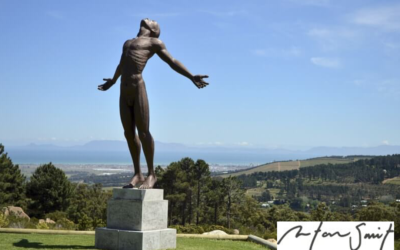 Anton Smit sculptures at Idiom Wine farm