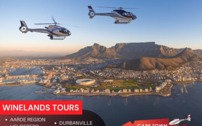 Helicopter flights to Idiom Wine Estate